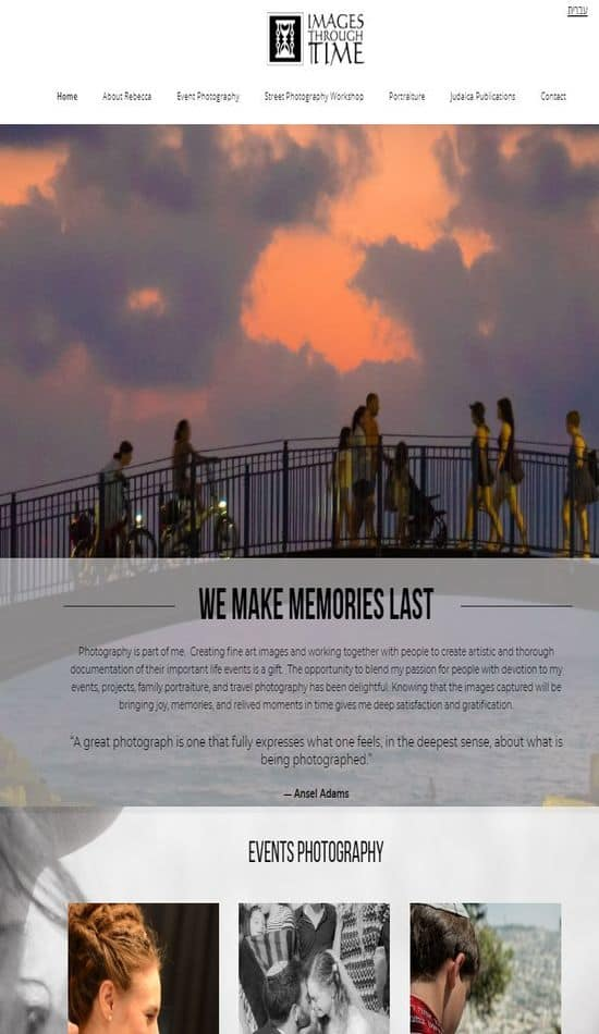 imagesthroughtime website screenshot