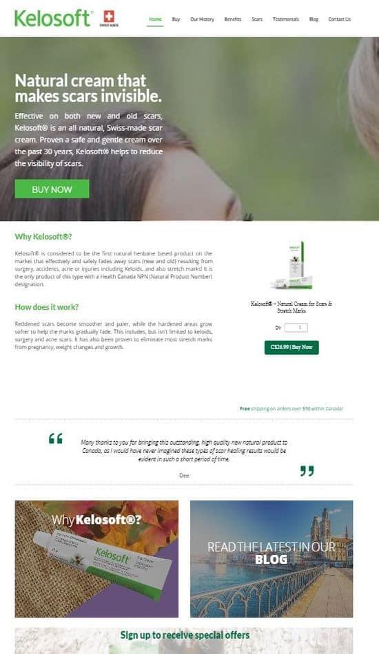 kelosoft website screenshot