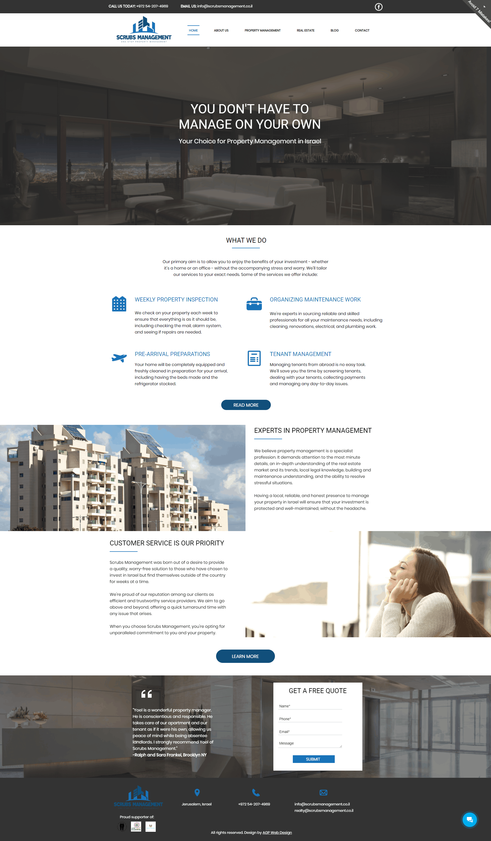 scrubsmanagement website screenshot