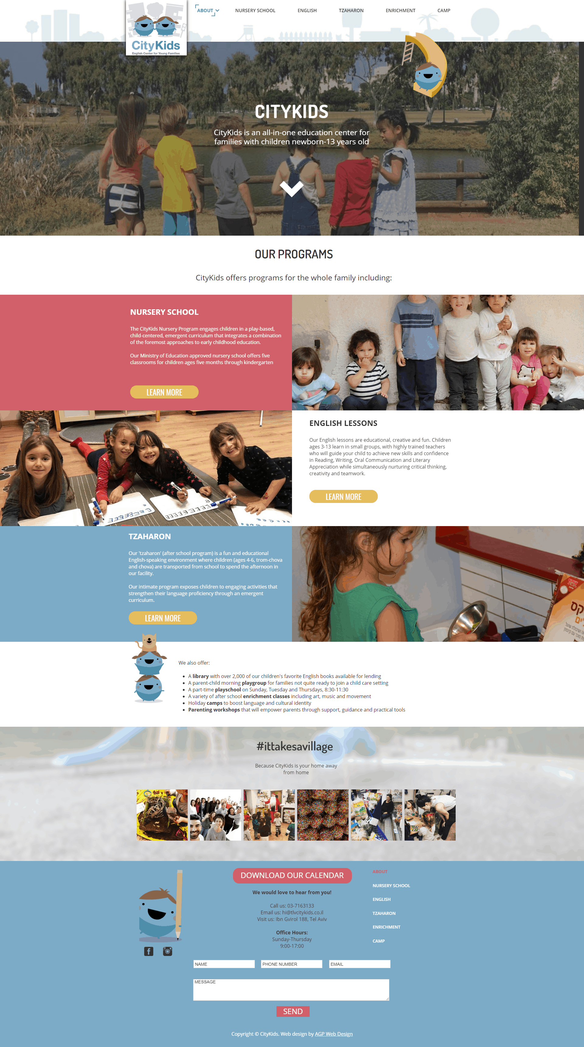 citykids website screenshot